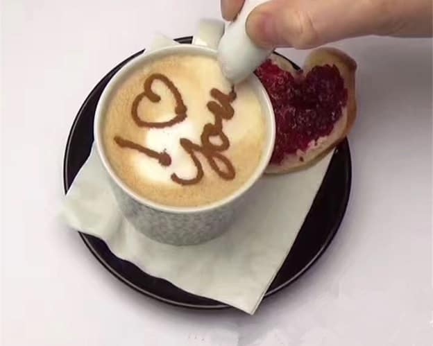 Pen Art Coffee Powder Topper