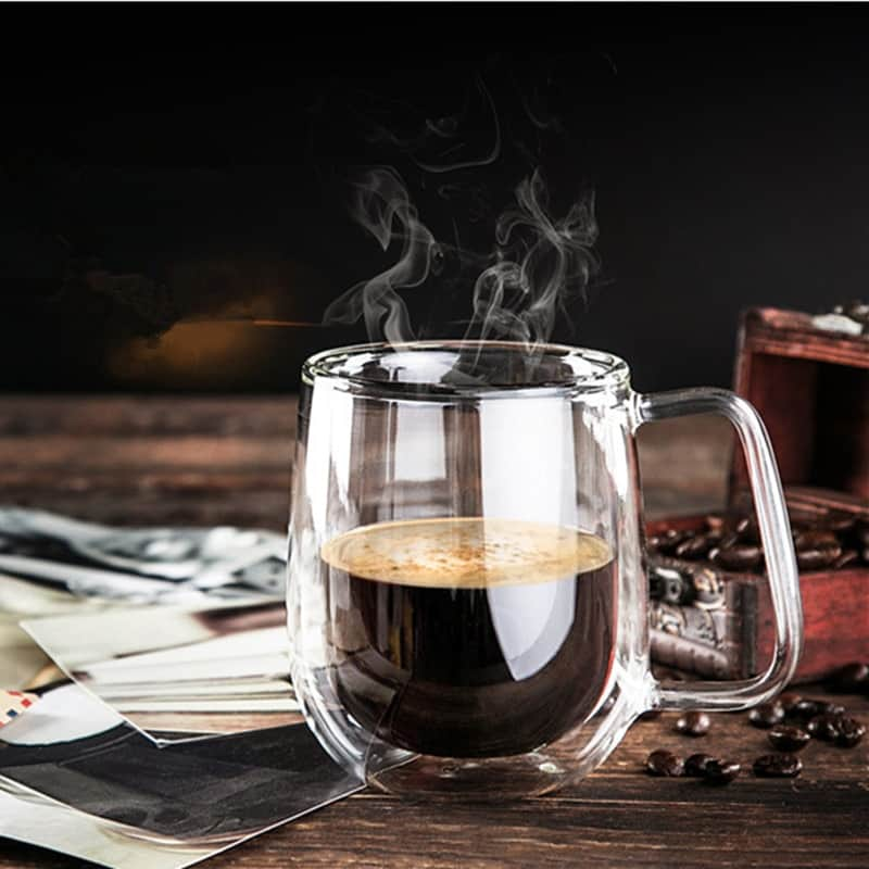 Coffee Cup Made Of Double Wall Glass